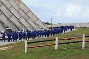 Politie in opleiding van het politiekorps in de Oost Kaap