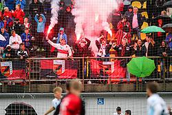Fans of CherryBox24 Tabor Sezana celebrate during football match between NK CherryBox24 Tabor Sezana and ND Nova Gorica in Qualifications of Prva Liga Telekom Slovenije 2019/20, on May 29, 2019 in Stadion Rajko Stolfa, Sezana, Slovenia. Photo by Matic Klansek Velej / Sportida