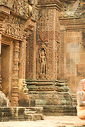 Banteay Srei or Banteay Srey a 10th century Cambodian temple dedicated to the Hindu god Shiva