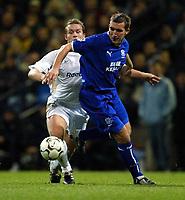Photo. Aidan Ellis.<br />Bolton Wanderers v Everton.<br />FA Barclaycard Premiership.<br />29/11/2003.<br />Bolton's Kevin Nolan and Everton's Alan Stubbs