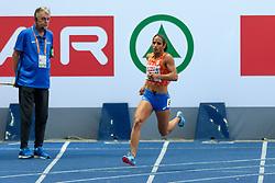 Madiea Ghafoor op de 400m finale bij het EK atletiek in Berlijn op 11-8-2018