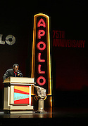 Chuck Jackson at the Apollo Theater 75th Birthday Celebration Press Conference announcing its special anniversary programming across Harlem, New York, and the Nation.