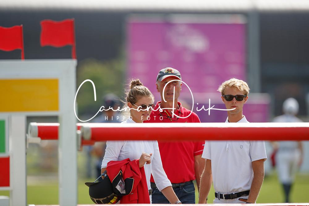 Conter Zoe, Thomas Gilles, Deraedt Rik, BEL<br /> Young Riders European Championships Jumping <br /> Samorin 2017© Hippo Foto - Dirk Caremans<br /> 11/08/2017