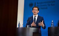 DEU, Deutschland, Germany, Berlin, 13.06.2018: Bundesinnenminister Horst Seehofer (CSU) und der Bundeskanzler von Österreich, Sebastian Kurz, bei einer Pressekonferenz im Bundesinnenministerium.