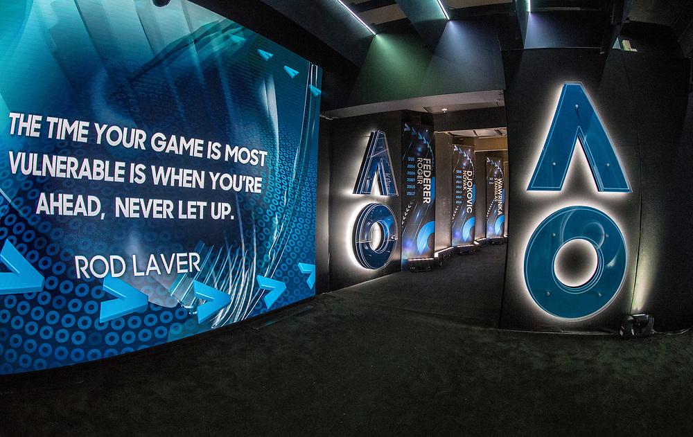 Walk on hallway during day two of the 2018 Australian Open in Melbourne Australia on Tuesday January 16, 2018.<br /> (Ben Solomon/Tennis Australia)
