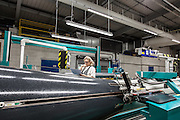 Lyon, Atelier Hermès, Bussière -dipartimento della Loire- nell'Atelier della tessitura, a loom with 600 silk reels