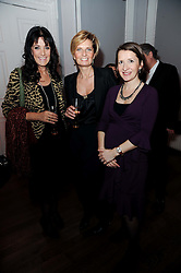 Left to right, GAIL REBUCK, SABINA BELLI and at the presentation of the Veuve Clicquot Business Woman Award 2010 held at the Institute of Contemporary Arts, 12 Carlton House Terrace, London on 23rd March 2010.  The winner was Laura Tenison - Founder and Managing Director of JoJo Maman Bebe.