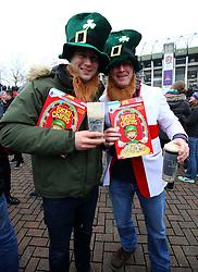 Ireland fans prior to the NatWest 6 Nations match at Twickenham Stadium, London.