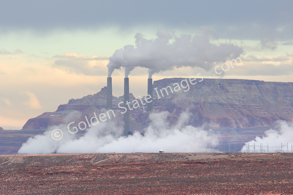 Coal fired power plants are required to help provide the ever increasing electricity needs for the metropolitan areas of the southwest. They have however had a significant impact on the air quality of the Colorado Plateau.<br /> <br /> Even with the addition of modern scrubbers designed to lower emissions coal fired power plants release huge quantities of sulfur dioxide nitrogen oxides and particles into the environment.<br /> <br /> Water quality is also impacted due to the large amounts of water required in the mining process.