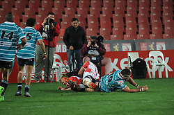 South Africa - Johannesburg, Emirates Airlines Park. 24/08/18  Currie Cup. Lions vs Griquas. Tyrone Green and Courtnall Skosan score a try. In the second half. <br /> 2nd half.  Picture: Karen Sandison/African News Agency(ANA)
