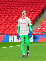 LONDON, ENGLAND - MARCH 31: Wojciech Szczesny of Poland reacts during the FIFA World Cup 2022 Qatar qualifying match between England and Poland on March 31, 2021 in London, United Kingdom. Sporting stadiums around the UK remain under strict restrictions due to the Coronavirus Pandemic as Government social distancing laws prohibit fans inside venues resulting in games being played behind closed doors. (Photo by Wlosek/PressFocus/MB Media)