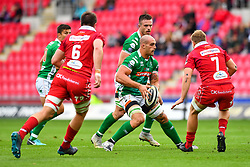 Marco Lazzaroni of Benetton Treviso in action during todays match<br /> <br /> Photographer Craig Thomas/Replay Images<br /> <br /> Guinness PRO14 Round 3 - Scarlets v Benetton Treviso - Saturday 15th September 2018 - Parc Y Scarlets - Llanelli<br /> <br /> World Copyright © Replay Images . All rights reserved. info@replayimages.co.uk - http://replayimages.co.uk