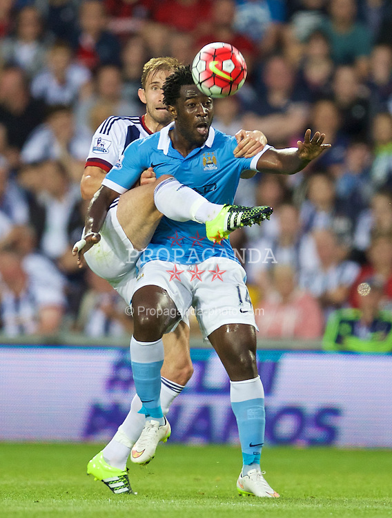 WEST BROMWICH, ENGLAND - Monday, August 10, 2015: Manchester City's Wilfried Bony in action against West Bromwich Albion during the Premier League match at the Hawthorns. (Pic by David Rawcliffe/Propaganda)