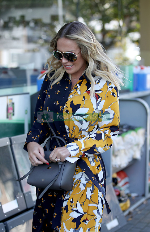 EXCLUSIVE: Kate Wright seen showing off her huge diamond engagement ring after fiancé Rio Ferdinand popped the question earlier this week in Abu Dhabi. Rio has previously been married to Rebecca Ellison who sadly died of cancer in 2015. 03 Nov 2018 Pictured: Kate Wright. Photo credit: MEGA TheMegaAgency.com +1 888 505 6342