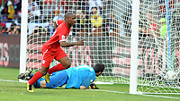 Nelson Mandela Bay Stadium Port Elizabeth World Cup 2010  Match 37 23/06/10<br /> Jermain Defoe (ENG) scores first goal<br /> Photo Roger Parker Fotosports International