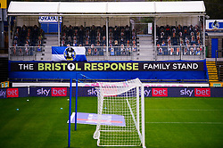 A general view of the cardboard cut out fans at the memorial stadium - Mandatory by-line: Dougie Allward/JMP - 03/10/2020 - FOOTBALL - Memorial Stadium - Bristol, England - Bristol Rovers v Northampton Town - Sky Bet League One