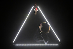 "© Licensed to London News Pictures. 20/01/2015. London, England. Pictured: Deborah Pugh performing. Theatre Ad Infinitum present their show ""Light"" at the Pit Theatre, Barbican Centre, London, UK. The show is part of the London International Mime Festival (LIMF) and runs from 20-24 January 2015. ""Light"" is written and directed by George Mann with Charlotte Dubery, Matthew Gurney, Robin Guiver, Deborah Pugh and Michael Sharman performing. Photo credit: Bettina Strenske/LNP"