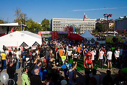 Athletes at the finish line of the 14th Marathon of Ljubljana, on October 25, 2009, in Ljubljana, Slovenia.  (Photo by Vid Ponikvar / Sportida)