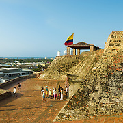 Castillo de San Felipe de Barajas was built during the 16th and 17th centuries to defend Cartagena against pirates and foreign enemies such as Great Britain.