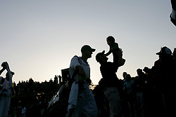 April 13, 2008 - Trevor Immelman hoists his son Jacob Trevor Immelman in the air after winning the final round of the Masters tournament at Augusta National, Sunday, April 13, 2008, in Augusta, Georgia. (Gerry Melendez/The State/MCT) (Credit Image: © Gerry Melendez/MCT/ZUMAPRESS.com)