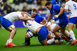 Luca Bigi (FRA) during the Six Nations rugby union tournament match between France and Italy at the stade de France, in Saint Denis, on February 9, 2020. Photo by Julien Poupart/ABACAPRESS.COM