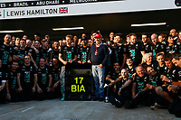 Mercedes F1 Team tribute to Jules Bianchi during the 2014 Formula One World Championship, Russia Grand Prix from October 9th to 12th 2014 in Sotchi, Russia. Photo Florent Gooden / DPPI.