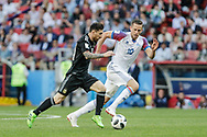 Lionel Messi of Argentina and Gylfi Sigurdsson of Iceland during the 2018 FIFA World Cup Russia, Group D football match between Argentina and Iceland on June 16, 2018 at Spartak Stadium in Moscow, Russia - Photo Thiago Bernardes / FramePhoto / ProSportsImages / DPPI