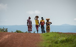 3 June 2019, Djohong, Cameroon: A group of women walk towards the Borgop refugee camp. The Borgop refugee camp is located in the municipality of Djohong, in the Mbere subdivision of the Adamaoua regional state in Cameroon. Supported by the Lutheran World Federation since 2015, the camp currently holds 12,300 refugees from the Central African Republic.