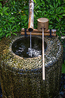 Water is considered purifying in Japan, thus the emphasis on cleanliness in everyday life. It is also a comfort to hear tsukubai trickling water to soothe the nerves as well.