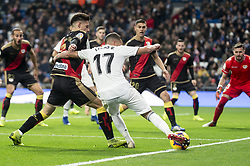 December 15, 2018 - Madrid, Spain - Lucas Vazquez of Real Madrid and Emiliano Velazquez of Rayo Vallecano during La Liga match between Real Madrid and Rayo Vallecano at Santiago Bernabeu Stadium in Madrid, Spain. December 15, 2018. (Credit Image: © Coolmedia/NurPhoto via ZUMA Press)