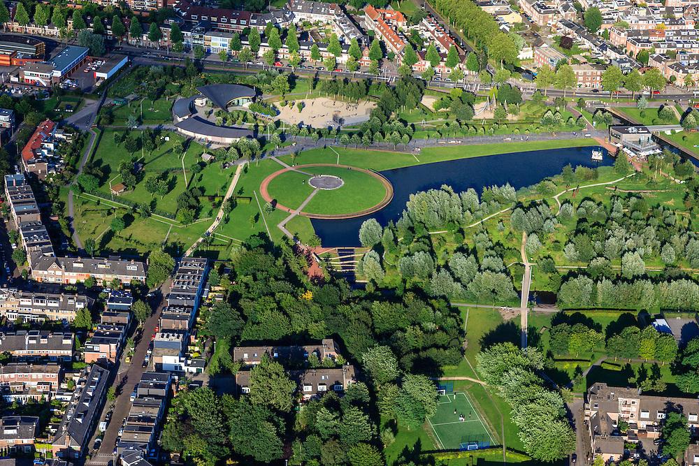 Nederland, Utrecht, Utrecht, 15-07-2012; binnenstad Utrecht, Griftpark..Public park in Utrecht: Griftpark..luchtfoto (toeslag), aerial photo (additional fee required).foto/photo Siebe Swart