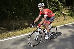 September 12, 2018 - Namur, BELGIUM - Belgian Jasper Stuyven of Trek-Segafredo pictured in action during the 59th edition of the one day cycling race Grand Prix de Wallonie (205,9km) from Blegny to the Citadelle de Namur, in Namur, Wednesday 12 September 2018. BELGA PHOTO YORICK JANSENS (Credit Image: © Yorick Jansens/Belga via ZUMA Press)