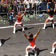 New York LGBT Pride Parade 2015, corner of Christopher Street and Gay Street, West Village prancing elites