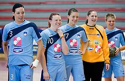 Anja Argenti, Jana Bacar,  Mirjana Gojkovic, Neja Soberl and Nastja Praprotnik at practice of Slovenian Handball Women National Team, on June 3, 2009, in Arena Kodeljevo, Ljubljana, Slovenia. (Photo by Vid Ponikvar / Sportida)