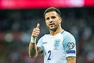(2) Kyle Walker during the FIFA World Cup Qualifier match between England and Slovakia at Wembley Stadium, London, England on 4 September 2017. Photo by Sebastian Frej.