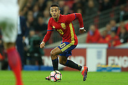 Thiago of Spain in action. England v Spain, Football international friendly at Wembley Stadium in London on Tuesday 15th November 2016.<br /> pic by John Patrick Fletcher, Andrew Orchard sports photography.
