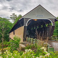 New England Covered Bridges photography of the historic Blair Covered Bridge in Campton, New Hampshire.<br /> <br /> Beautiful New England Covered Bridge photography photos of the New Hampshire Blair Covered Bridge are available as museum quality photography prints, canvas prints, acrylic prints, wood prints or metal prints. Fine art prints may be framed and matted to the individual liking and interior design decorating needs.<br /> <br /> Good light and happy photo making!<br /> <br /> My best,<br /> <br /> Juergen