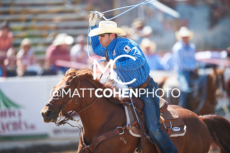 Team roper Drew Horner of Plano, TX competes at the Redding Rodeo in Redding, CA.<br /> <br /> <br /> UNEDITED LOW-RES PREVIEW<br /> <br /> <br /> File shown may be an unedited low resolution version used as a proof only. All prints are 100% guaranteed for quality. Sizes 8x10+ come with a version for personal social media. I am currently not selling downloads for commercial/brand use.