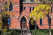 Samuel Curtis Johnson Hall, School of Management on the campus of Cornell University, Ithaca, New York, USA.
