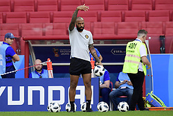 June 22, 2018 - Moscou, russie - MOSCOW, RUSSIA - JUNE 22 : Thierry Henry ass. coach of Belgian Team pictured during a training session of the National Soccer Team of Belgium prior to the FIFA 2018 World Cup Russia group G phase match between Belgium and Tunisia at the Spartak Stadium on June 22, 2018 in Moscow, Russia, 22/06/2018 (Credit Image: © Panoramic via ZUMA Press)