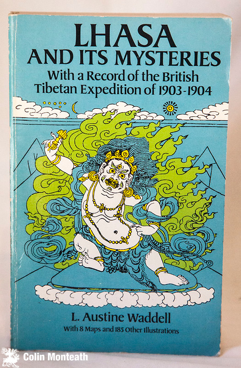 LHASA AND ITS MYSTERIES -  Wiht a record of the British Tibetan expedition of 1903-04, L. Austine Waddell, Dover publications, New York,  1988, well done facsimile edition of original 1905 1st edition -  8 maps, 185 illustrations, 530 page softbound, VG+ , v minor foxing on page ends, none internally, Waddell accompanied the Younghusband British military incursion to Lhasa - (Arnold Heine Collection) - $NZ60
