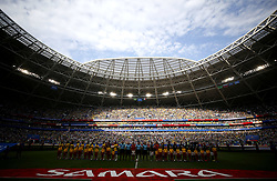 July 2, 2018 - Samara, Rússia - SAMARA, SA - 02.07.2018: BRAZIL VS. MEXICO - Overview of the stadium during the match between Brazil and Mexico, valid for the eighth round of the 2018 World Cup held at the Samara Arena in Samara, Russia. (Credit Image: © Rodolfo Buhrer/Fotoarena via ZUMA Press)