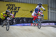 #49 (TUCHSCHERER Daina) CAN at Round 2 of the 2019 UCI BMX Supercross World Cup in Manchester, Great Britain