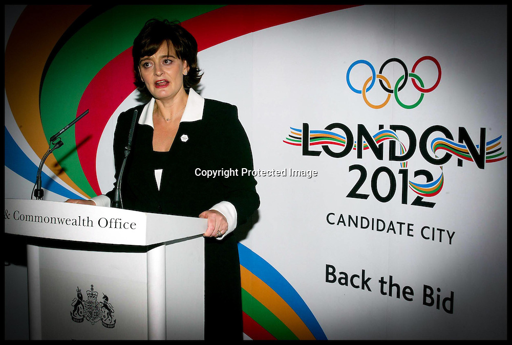 Cherrie Blair addressing 70 International ambassadors as he highlights the United Kingdom Government Commitment to hosting the 2012 Olympic games.PA Photo Andrew PArsons.SEE STORY SPORT OLYMPIC