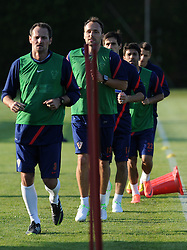 18.05.2012, Brezice, SLO, UEFA EURO 2012, Trainingscamp, Kroatien, 2. Trainingstag, im Bild Josip Simunic, Gordon Schildenfeld // during 2nd practice day of Croatian National Footballteam for preparation UEFA EURO 2012 at Brezice, Slovenia on 2012/05/18. EXPA Pictures © 2012, PhotoCredit: EXPA/ Pixsell/ Daniel Kasap....***** ATTENTION - OUT OF CRO, SRB, MAZ, BIH and POL *****
