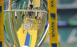 Aviva premiership trophy on Display prior to kick off.- Photo mandatory by-line: Alex James/JMP - 07966 386802 - 06/09/2014 - SPORT - RUGBY UNION - London, England - Twickenham Stadium - Saracens v Wasps - Aviva Premiership London Double Header.