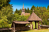 Wood Church of the Orthodox Cuvioasa Paraschiva , Poienile Izei, Maramures, Romania. UNESCO World Heritage Site. .<br /> <br /> Visit our ROMANIA HISTORIC PLACXES PHOTO COLLECTIONS for more photos to download or buy as wall art prints https://funkystock.photoshelter.com/gallery-collection/Pictures-Images-of-Romania-Photos-of-Romanian-Historic-Landmark-Sites/C00001TITiQwAdS8<br /> .<br /> Visit our MEDIEVAL PHOTO COLLECTIONS for more   photos  to download or buy as prints https://funkystock.photoshelter.com/gallery-collection/Medieval-Middle-Ages-Historic-Places-Arcaeological-Sites-Pictures-Images-of/C0000B5ZA54_WD0s