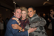 LORD HARRY DALMENY; LADY WOLFSON; GAIL RONSON, Preview of Pad. Berkeley Sq. London. 12 October 2015
