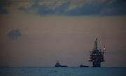 Oil platform in the Gulf of Mexico. There are nearly 5,000 functioning oil platforms in the Gulf of Mexico, and 27,000 abandoned wells.