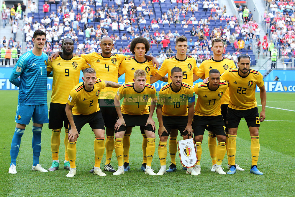 July 14, 2018 - St. Petersburg, Russia - July 14, 2018, St. Petersburg, FIFA World Cup 2018, Football match for the third place in the World Cup. Football match of Belgium - England at the stadium of St. Petersburg. Players of the national team Belgium. (Credit Image: © Russian Look via ZUMA Wire)